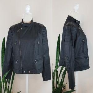 Lauren Ralph Lauren Coated Canvas Moto Jacket